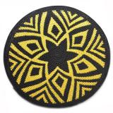 Africa Zulu Telephone Hardwire Basket - Starburst Design Yellow and Black