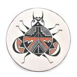 Native American Mimbre Acoma Pueblo Plate by S Phillips