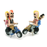 Color Variations- Day of the Dead Mohawk Motorcycle Couple Figure