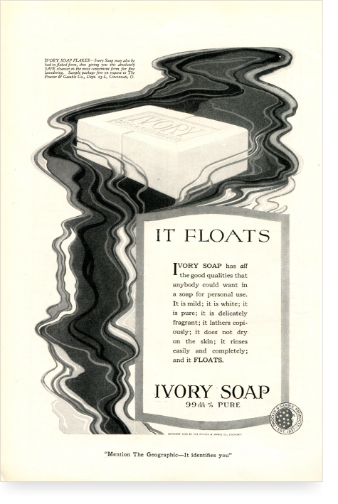 It Floats Early Ivory Advertisement