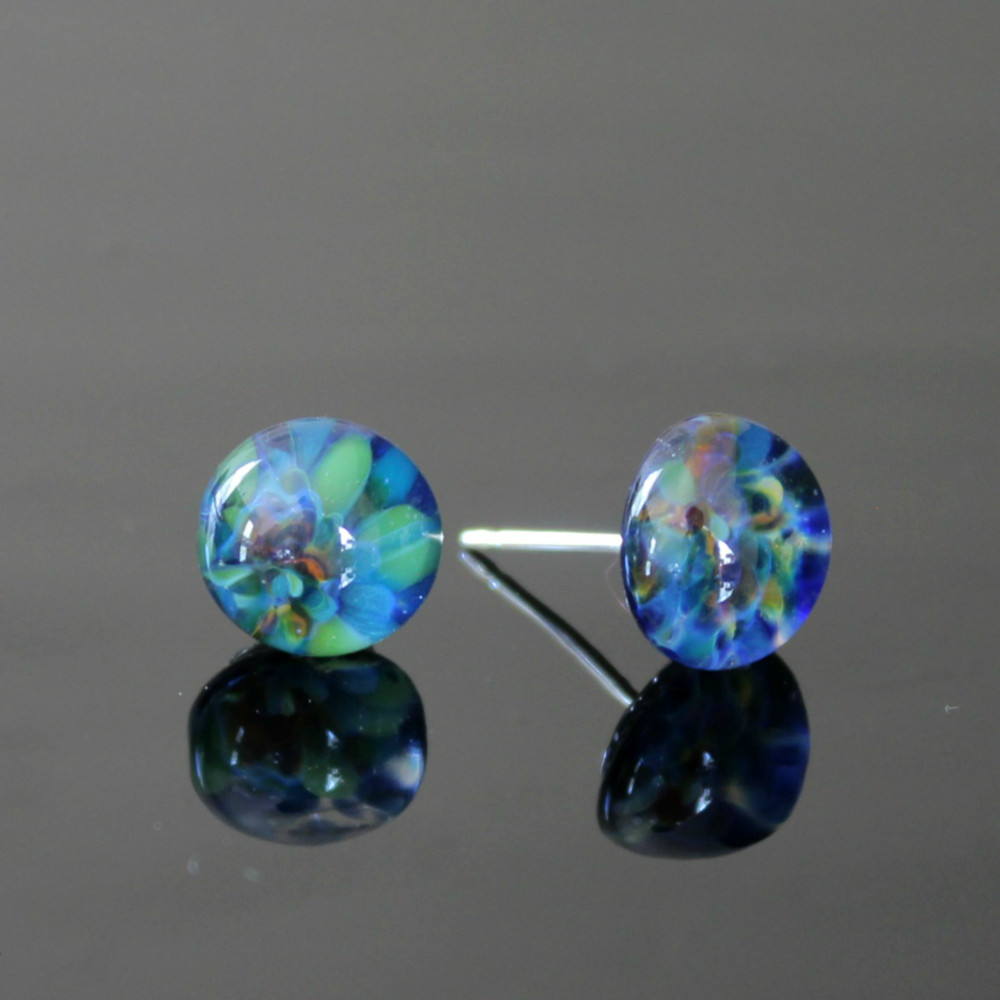 Garden Glass Stud Earrings