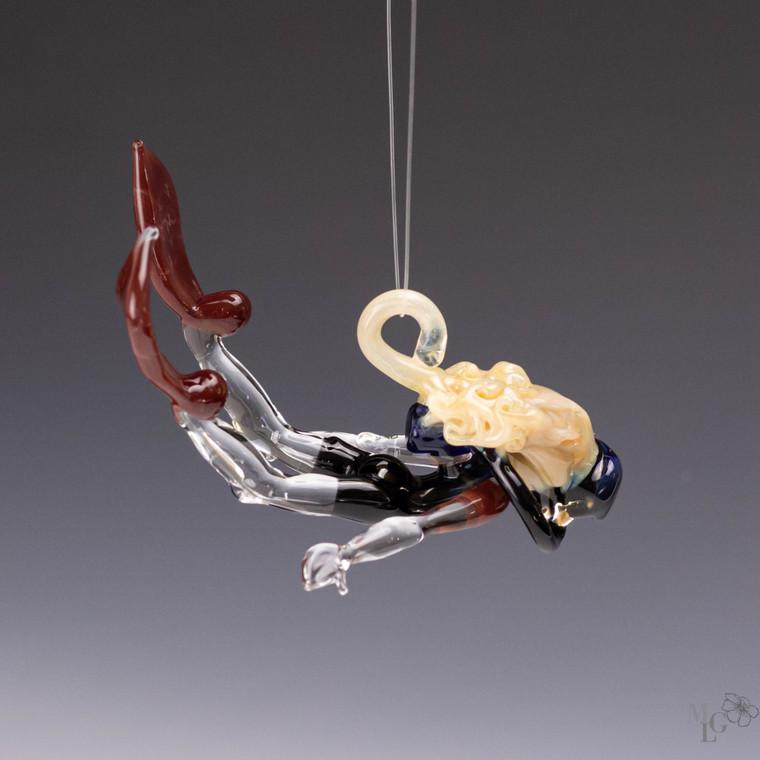 "Scuba Diver Ornament - ""Jacqueline"" - MADE TO ORDER"