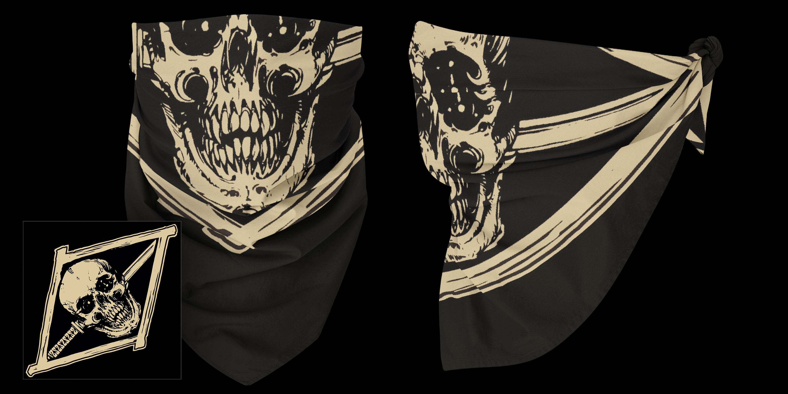 Skull & Sword Bandana