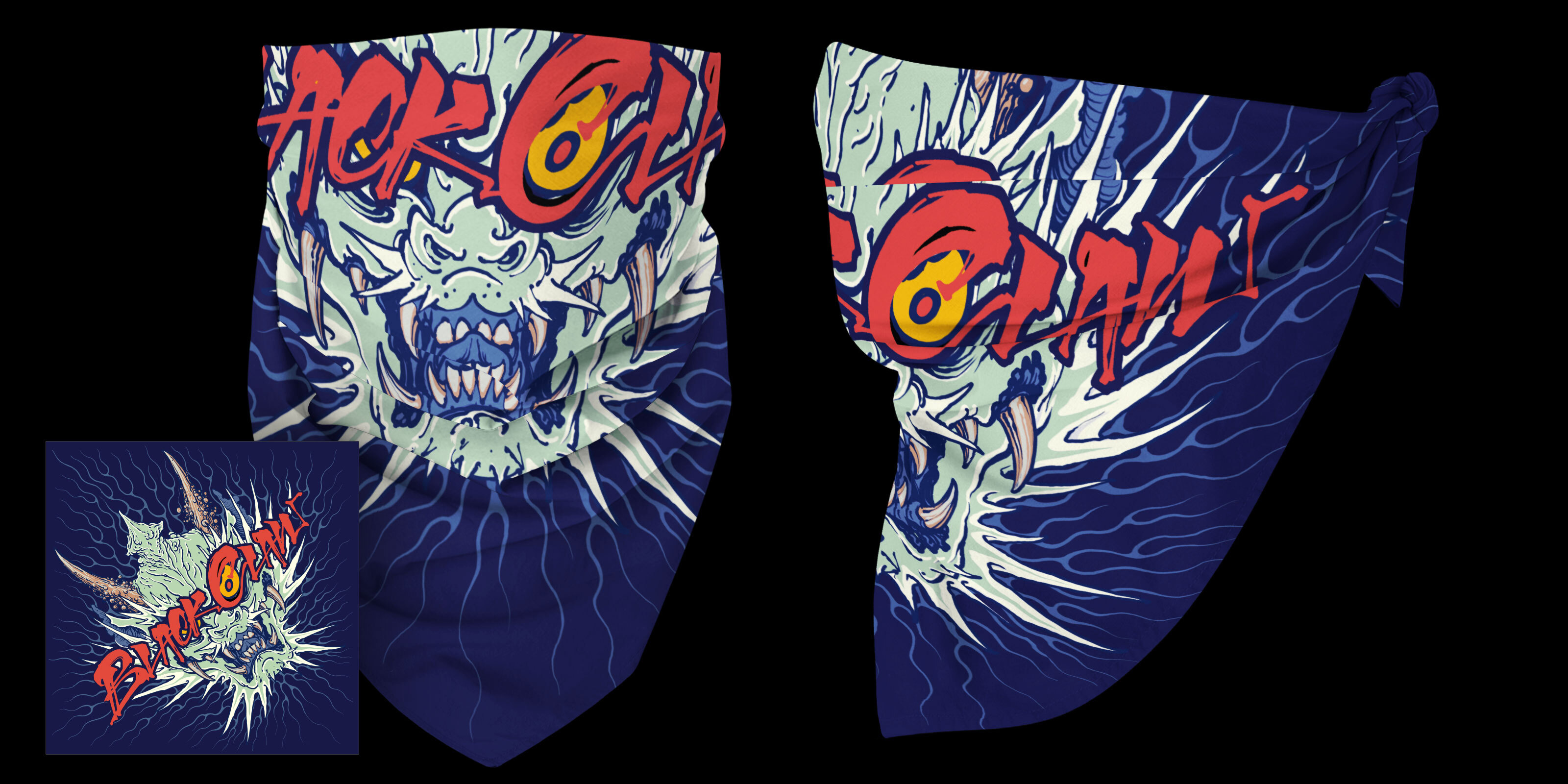 Black Claw Oni Bandana