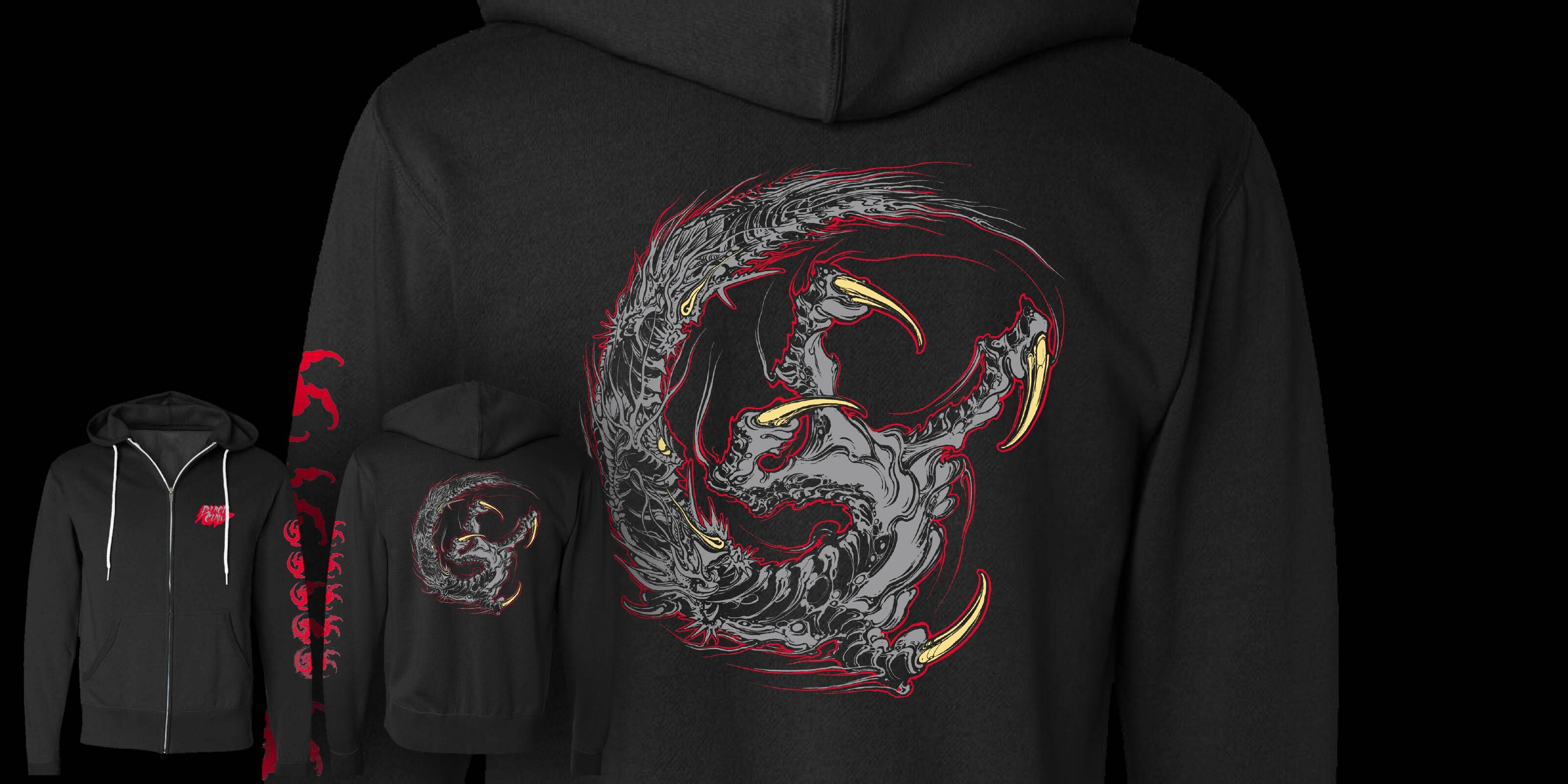 Black Claw Zip Up Hoodie