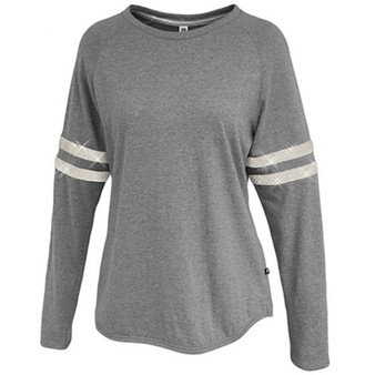 Sparkle Stripe Crew - Grey White