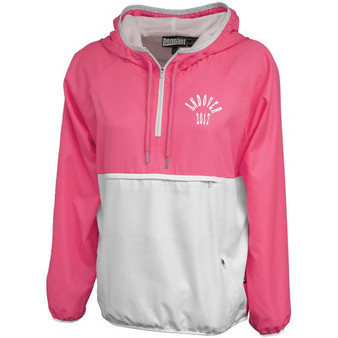 Women's Colorblock Anorak -Pink with Logo