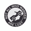 Decal, DEC-LOST - Not All Who Wander Decal