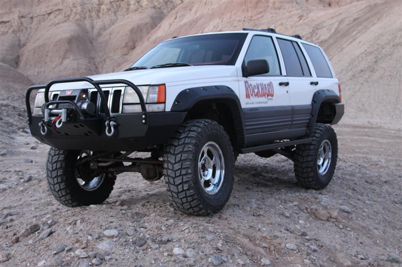 rock hard 4x4 patriot series front bumper for jeep grand cherokee zj