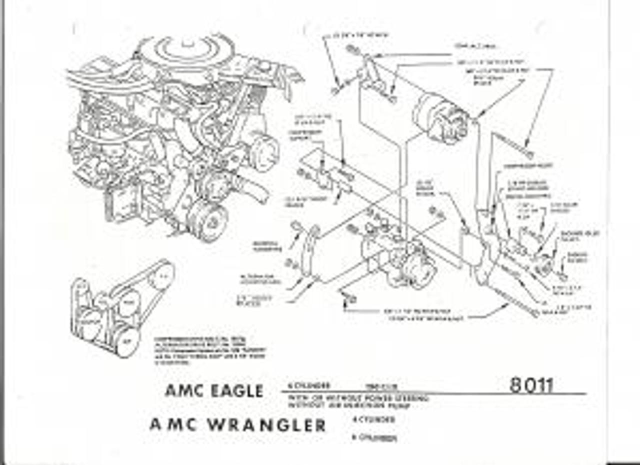 Jeep Air, 8011 - CJ YJ Series 4.2 Liter Engine Bracket - JeepHut Offroad | Cj Jeep Engine Diagram |  | JeepHut