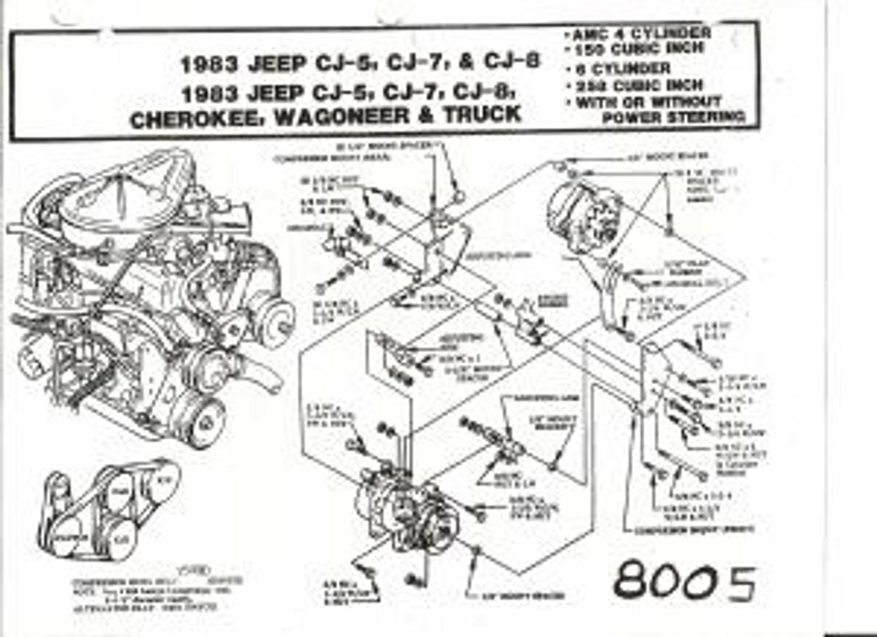 Jeep Air, 8005 - CJ Series 258 Six Cyl. Engine Bracket - JeepHut OffroadJeepHut