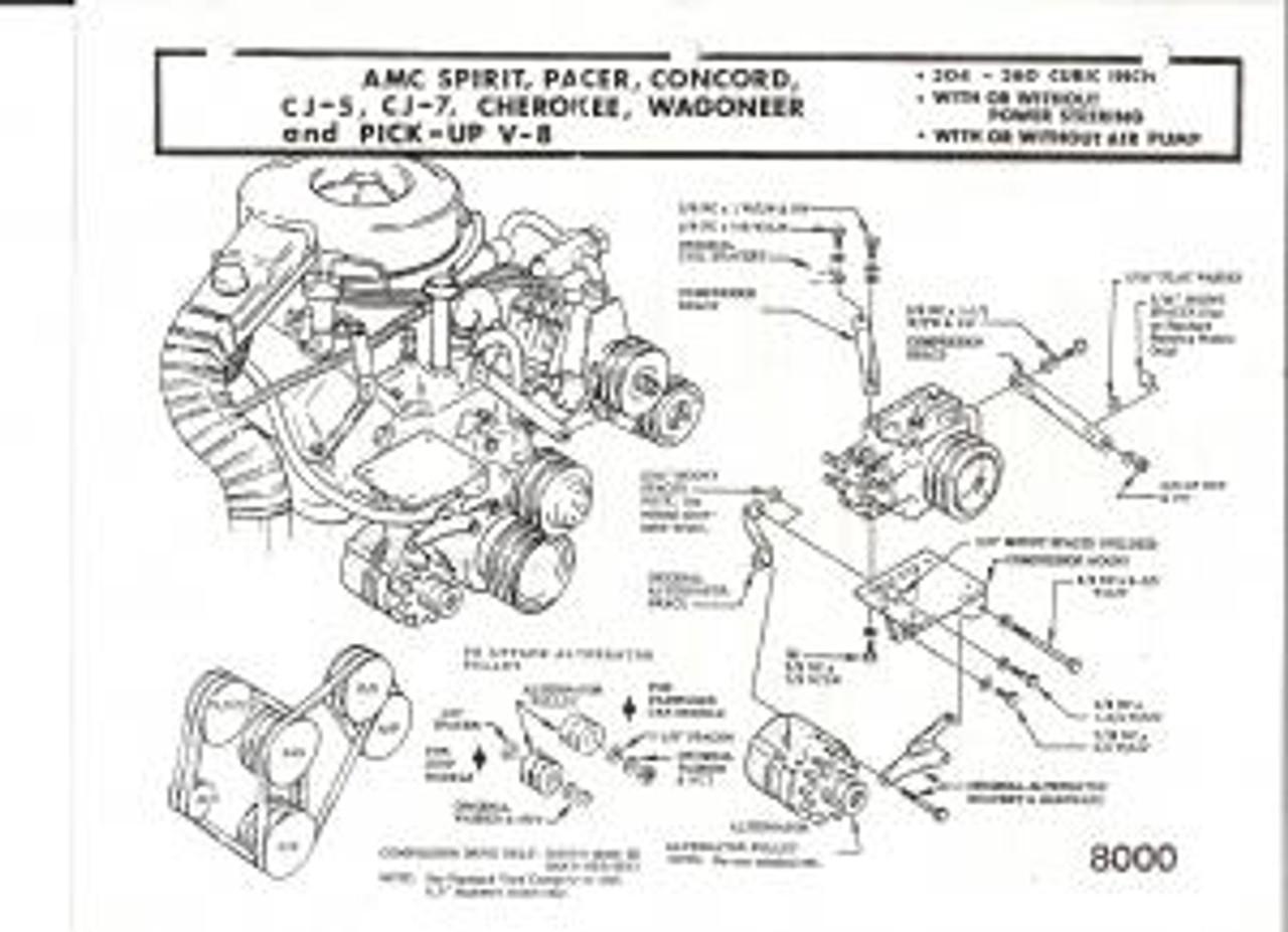 Jeep Air, 8000 - CJ Series 304 360 Amc Engine Bracket