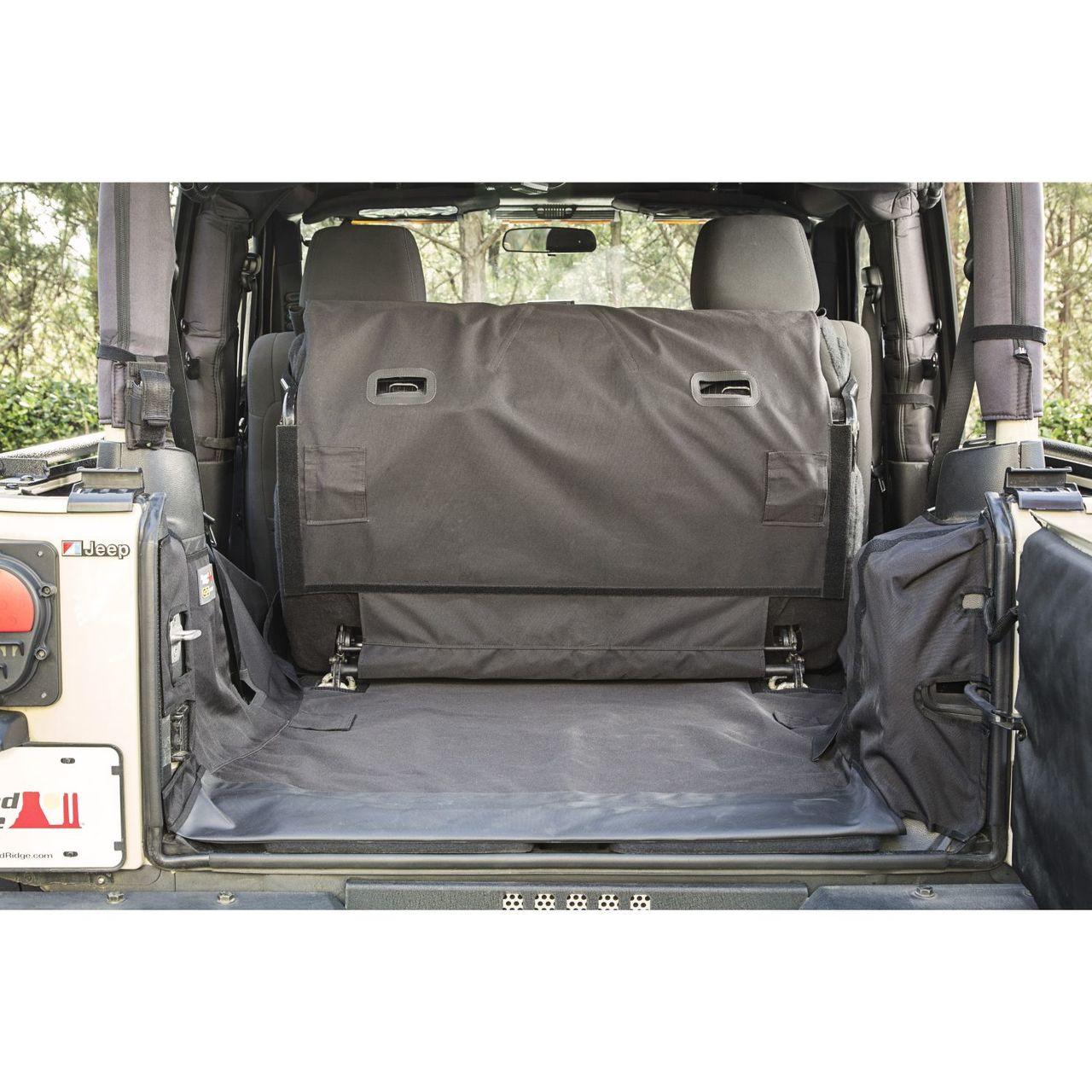 C3,2-Door w//Subwoofer; 07-14 Jeep Wrangler JK Rugged Ridge 13260.04 Cargo Cover