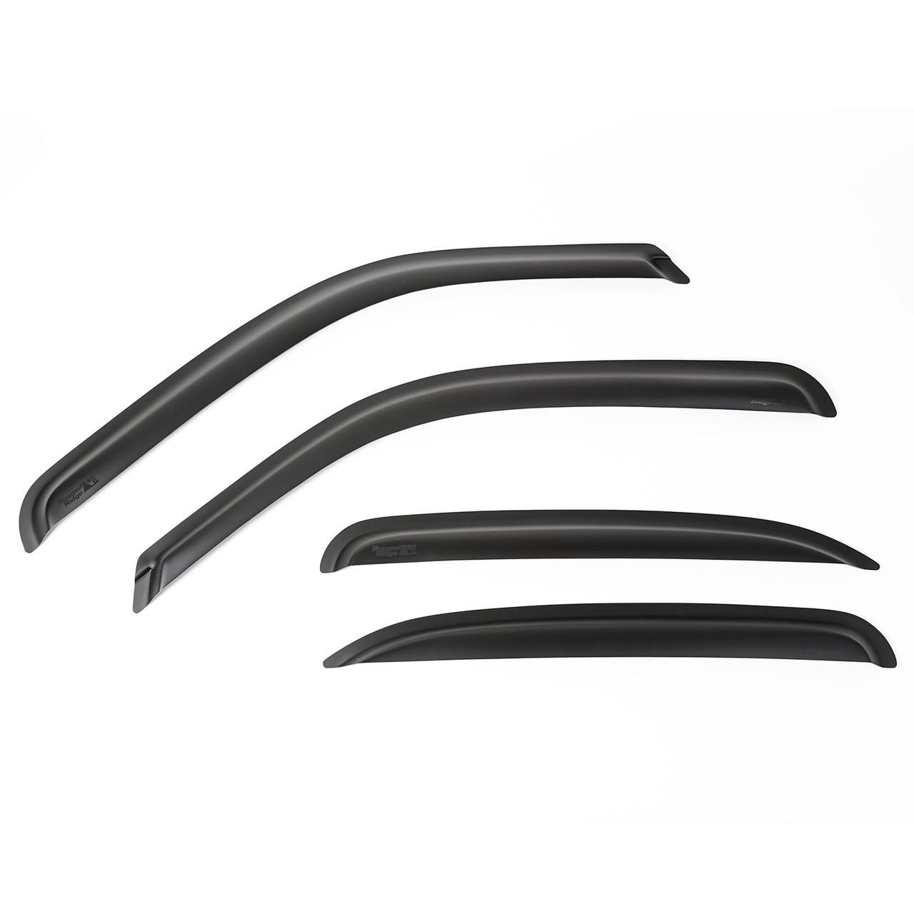 Rugged Ridge 81349.52 Matte Black Window Visor Kit for Chevrolet//GMC Pickup /& SUV