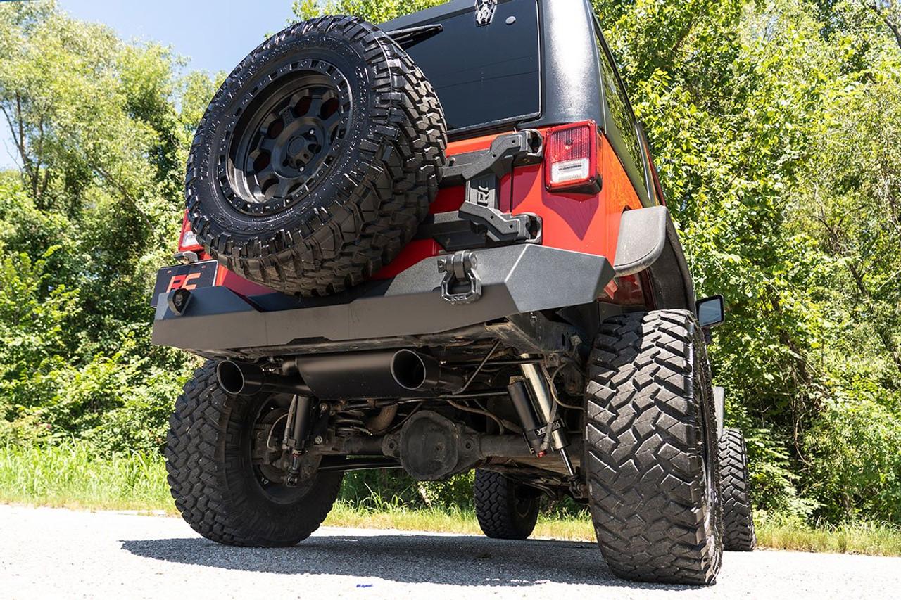 Jeep Dual Outlet Performance Exhaust Black 07 18 Wrangler Jk Jeephut Offroad
