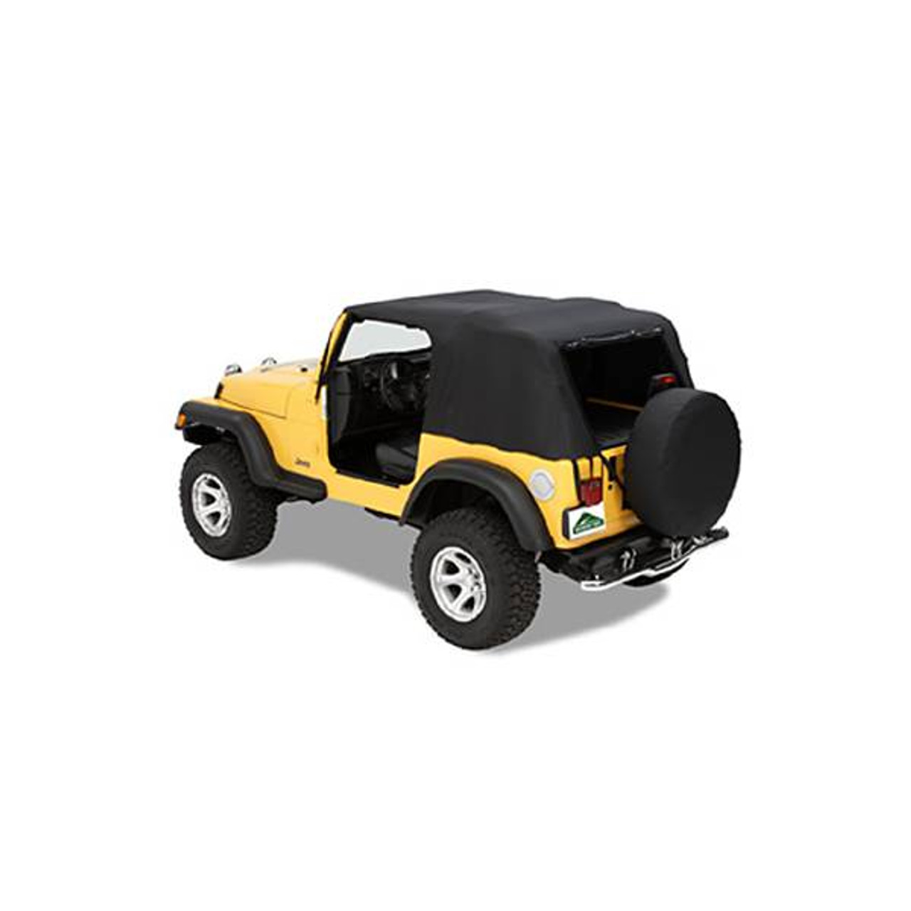 Black fits 97-06 Jeep Wrangler TJ Pavement Ends Emergency Top Quick Protection
