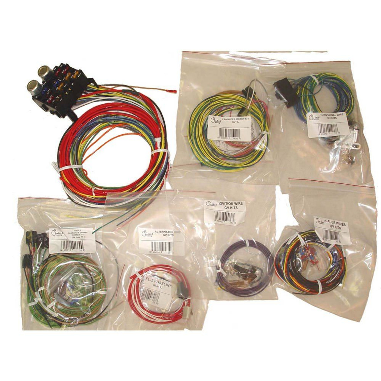 omix-ada, 17203 01 - centech wiring harness 55-86 jeep cj - available at  the jeephut