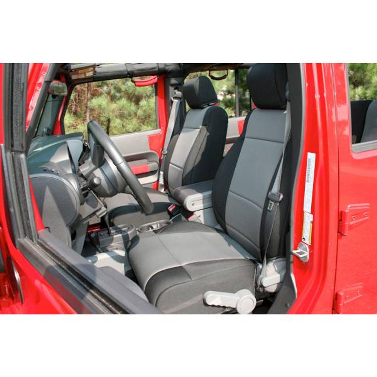 Rugged Ridge 13215.01 Black Neoprene Front Seat Cover