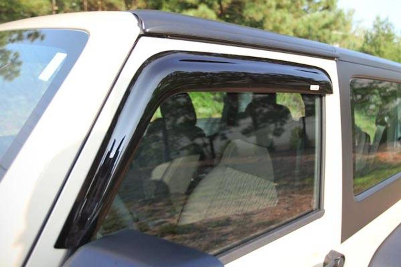 For Jeep Wrangler Jk 07-17 2-Door New Window Rain Deflectors X 11351.11