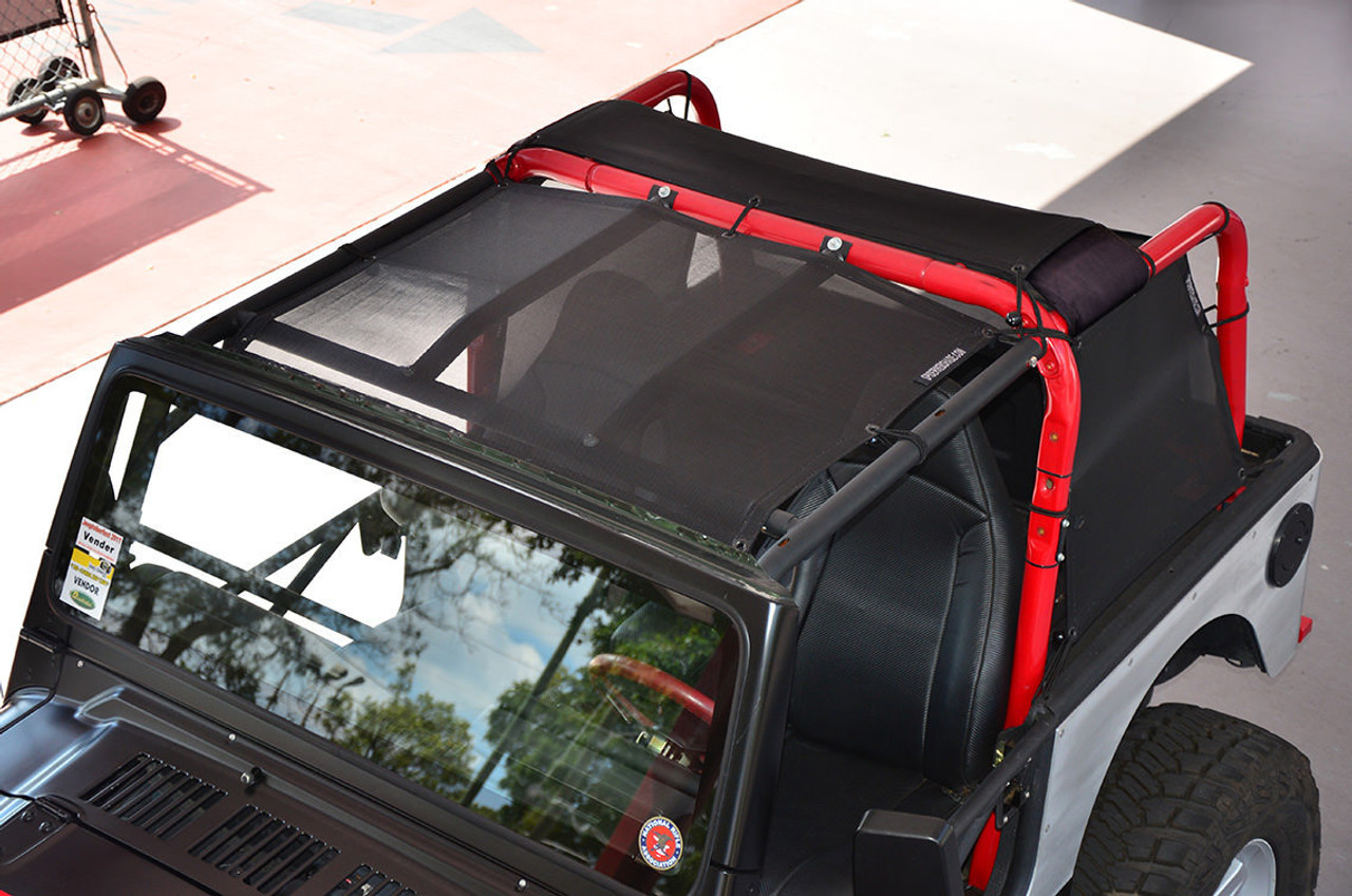 1987-2006 Jeep Wrangler /& Unlimited SpiderWebShade TrailMesh TJkini Top Black