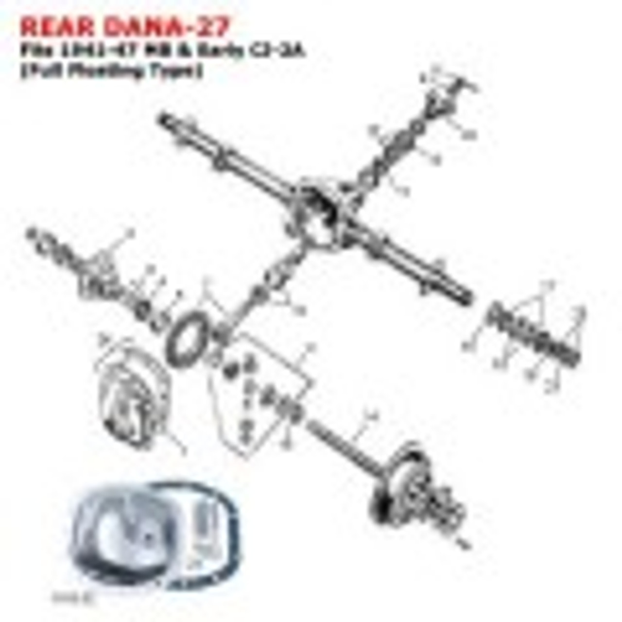 Rear Axle Replacement Parts
