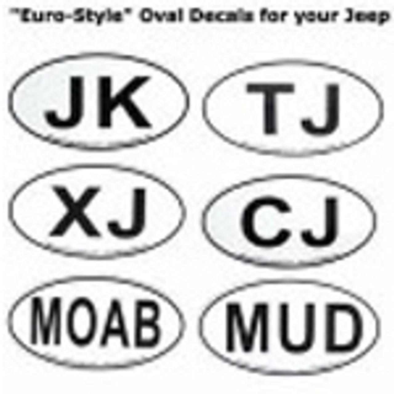 Custom Oval Jeep Decals