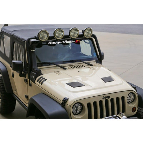 Rugged Ridge, 17759.01 - Performance Vented Hood, 07-18 Jeep Wrangler (JK)