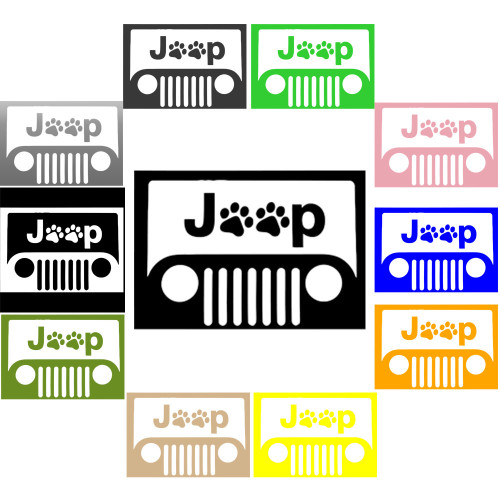 Decal, DEC-PAW - Jeep Paw Print Decal