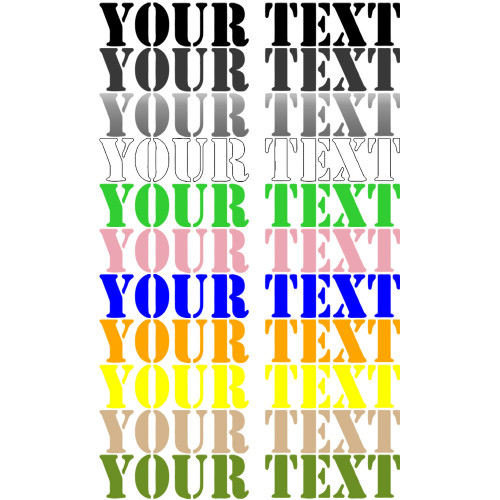 Decal, DEC-CUSTOM - Your Text Custom Hood Decals Set of Two)