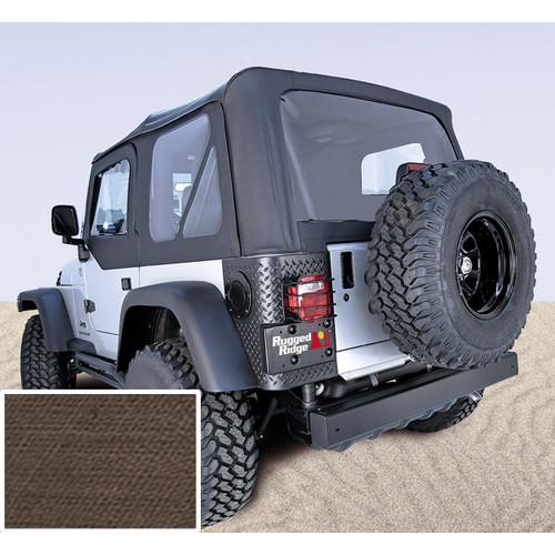 Rugged Ridge, 13729.36 - XHD Soft Top, Khaki, Clear Windows, 97-06 Jeep Wrangler (TJ)
