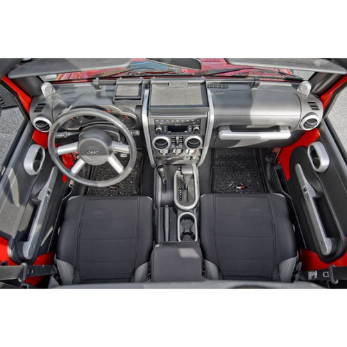 Rugged Ridge, 11151.91 - Interior Trim Accent Kit, Brushed Silver, 07-10 Jeep Wrangler (JK)