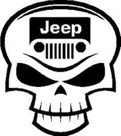 Decal, DEC-JPS - Jeep Skull Decal