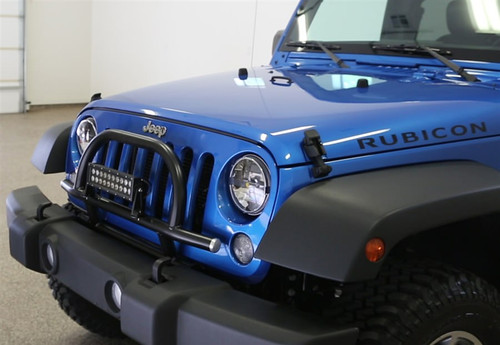 Rock Hard 4x4 Light Mount with Grille Guard for Factory Front Bumper Jeep Wrangler JK 2007 - 2018