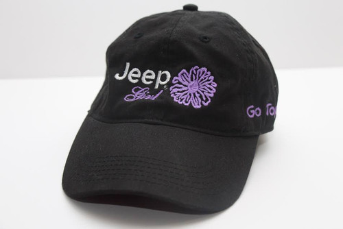 Jeep Clothing, CP5101 - Jeep Girl Go Topless Cap - Black