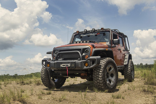 Rugged Ridge, 11544.64 - Spartacus Bumpers, Over-Rider/Tire Carrier/Grille; 07-18 JK