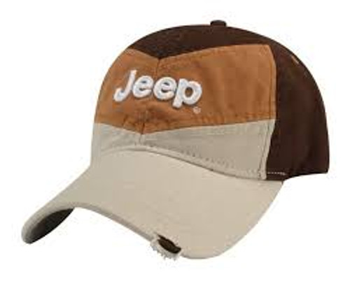 afe366cd JEEP TRI-TONE BROWN JEEP HAT