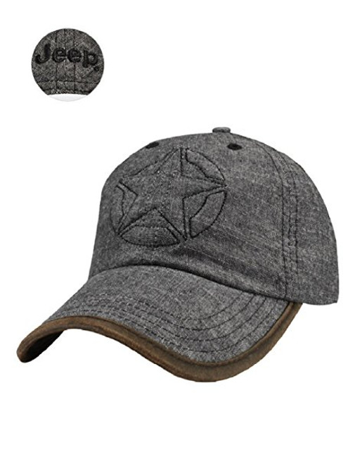 BLACK DENIM JEEP STAR HAT 499e139483b5