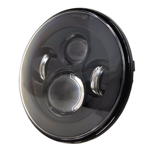 Jeep Wrangler 7 inch LED Black-Out LED Headlight and Fog Light Combo Package JK 2007-2018