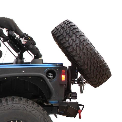 Slant Mount for XRC Tire Carrier Jeep JK Black Powdercoat Smittybilt