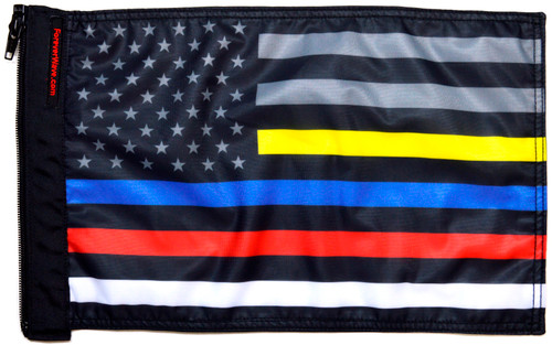 USA Subdued Protect The 3 Flag Forever Wave