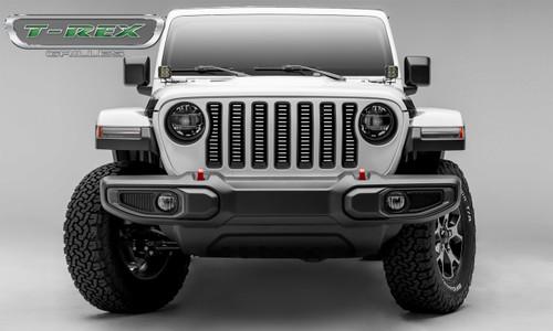 Jeep JL Laser Billet Grille Insert Horizontal 2018 Wrangler JL Aluminum Brushed Billet Series T-REX Grilles