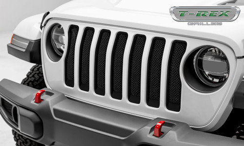 Jeep JL Mesh Grille Insert 2018 Wrangler JL Stainless Steel Black Sport Series T-REX Grilles