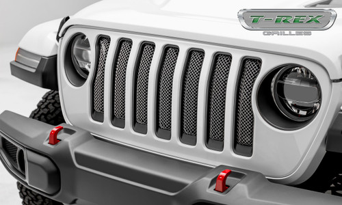 Jeep JL Mesh Grille Insert 2018 Wrangler JL Stainless Steel Polished Sport Series T-REX Grilles