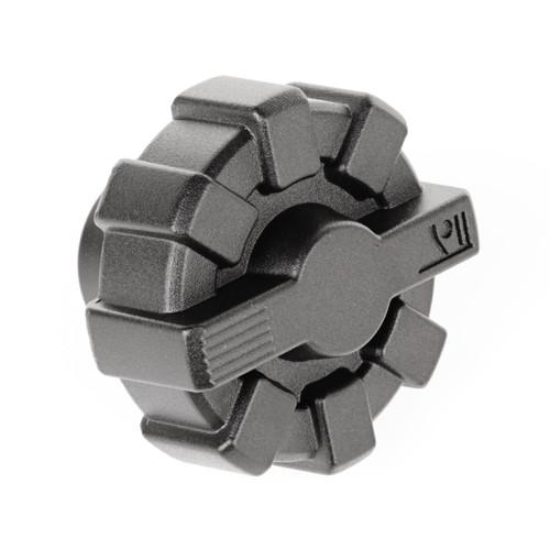 Elite Fuel Cap, Black, Aluminum; 01-18 Jeep Wrangler TJ/LJ/JK