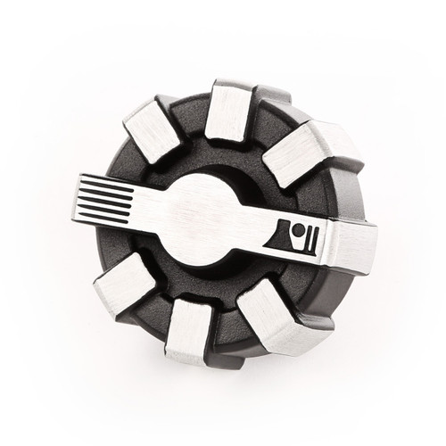Elite Fuel Cap, Brushed, Aluminum; 01-18 Jeep Wrangler JK
