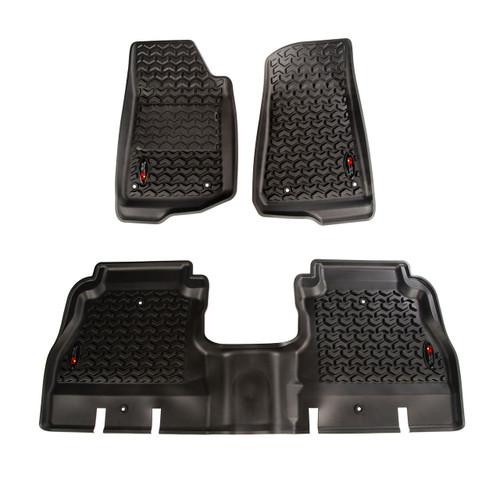 All Terrain Floor Liner Kit, Black; 18-19 Wrangler Unlimited JLU
