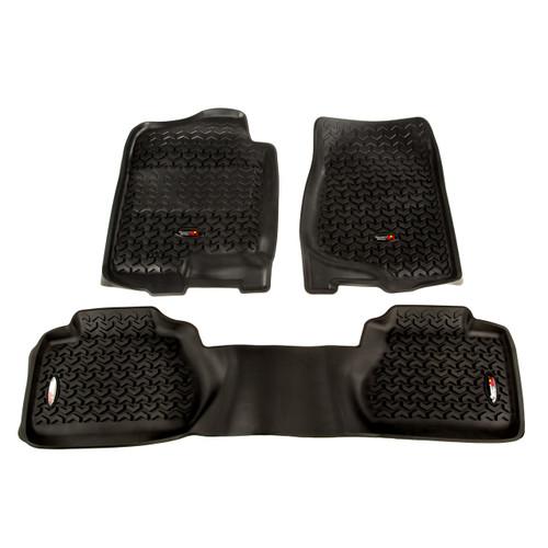 All Terrain Floor Liner Kit, Black; 07-11 GM Extended Cab Trucks
