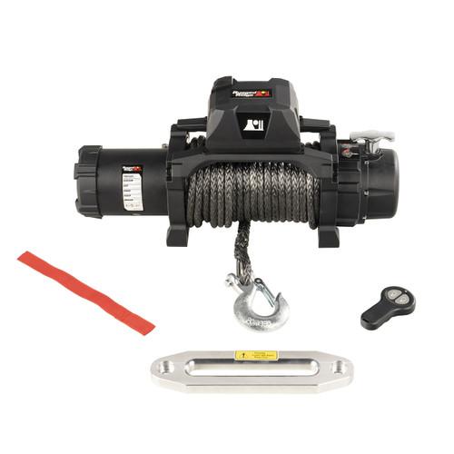 Trekker Winch, 12,500 LBS, Synthetic Rope, IP68 Waterproof, Wireless