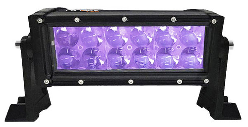 8 Inch LED RGB Light Bar Dual Row 36 Watt Combo Ultra Accent Series Quad-Lock/Interlock Quake LED
