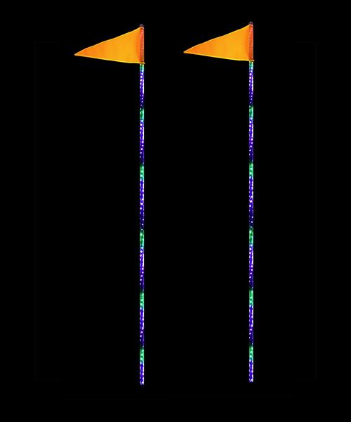 LED Light Whip 8 Foot HD Dual Quake LED